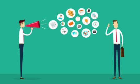 conflictos sociales: plana comunicación empresarial vector y concepto de conexión