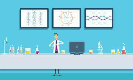 in lab: investigaci�n cient�ficos en concepto de laboratorio de laboratorio