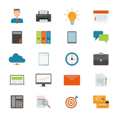 Vector falt business icon for web and application design Vector