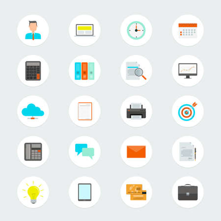 Flat vector business icon for web and application Vector