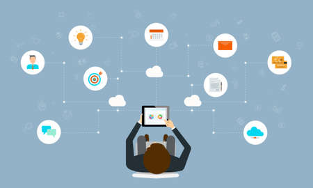 programing: business working online connection