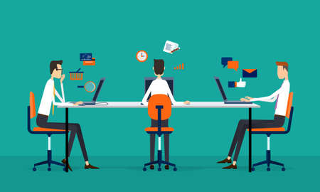 business team online working concept