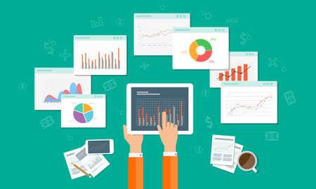 analizy wykresu i biznes SEO na urządzeniu przenośnym