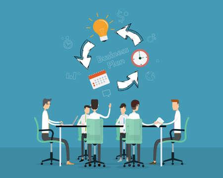 incontro di lavoro persone progetto di pianificazione ana temporale