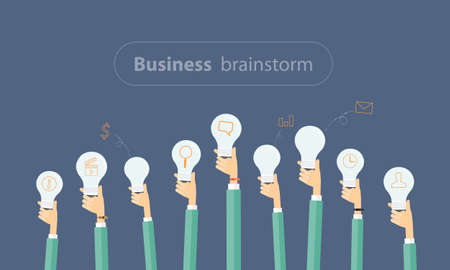 company vision: people business meeting and brainstorm to creative business