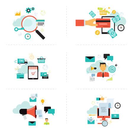 Elemento en línea de marketing empresarial para infografía Foto de archivo - 39445245