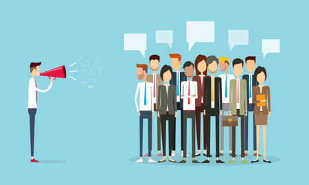 group people business and marketing communication background Ilustracja