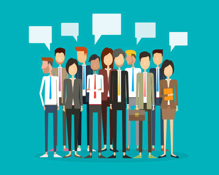 business people: group people business and business teamwork Illustration