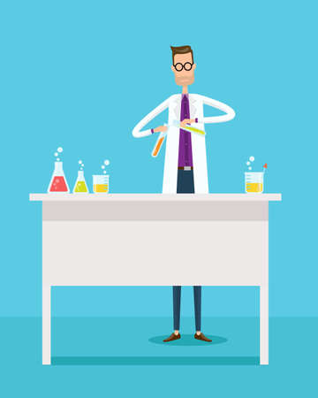 scientist: Scientists experiment research in laboratory lab