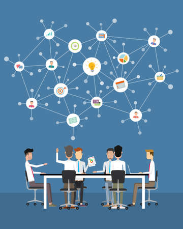 Menschen Business Teamwork Treffen und Brainstorming-Konzept Standard-Bild - 40560742