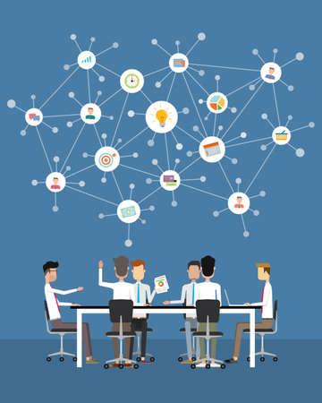 zakenmensen teamwerk vergader- en brainstorm-concept Stock Illustratie