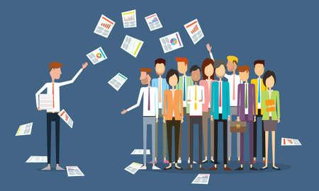 Skupina lidí obchodní komunikace Ilustrace