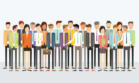 groep mensen uit het bedrijfsleven teamconcept Stock Illustratie