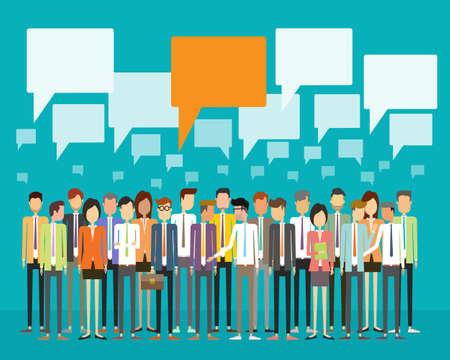 그룹 사람들이 비즈니스 통신 개념 일러스트