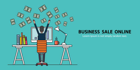 earning: concept banner business people earning for sale on line