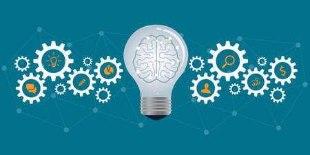 engranajes: procesos de negocio y concepto de negocio creativa