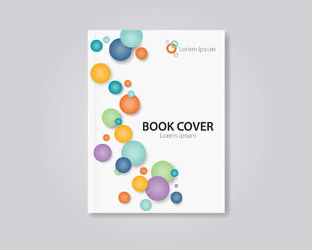 Vector book and brochure cover layout template design. editable .abstract