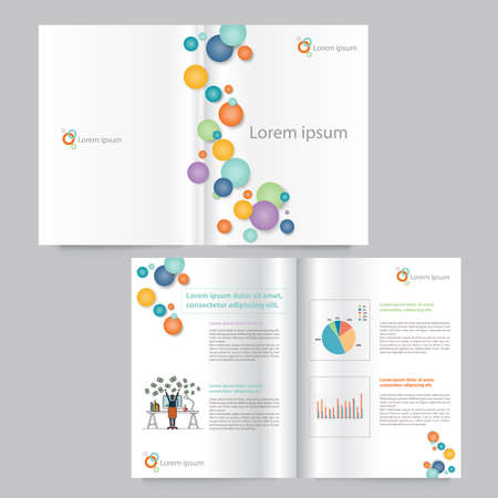 Vector book and brochure layout template design. editable .abstract