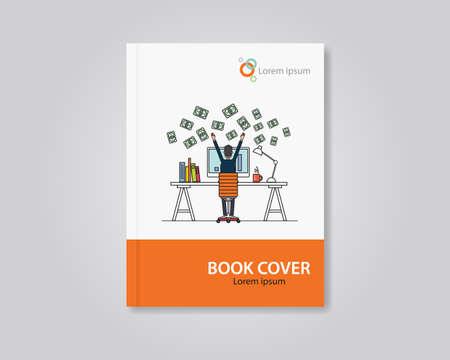 Libro vectorial y diseño de portada del folleto plantilla de diseño. .abstract editable