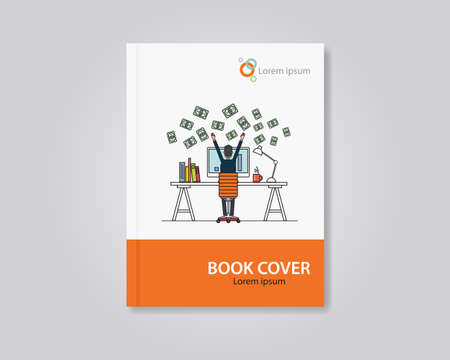 page design: Vector book and brochure cover layout template design. editable .abstract