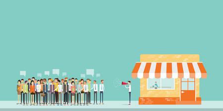 anunciar: la gente de negocios anunciar y comercializaci�n de gente de negocios