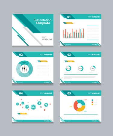 sjabloon: zakelijke presentatie template set.