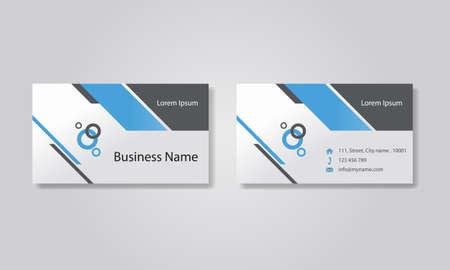 비지니스: 비즈니스 카드 템플릿 디자인 배경입니다.