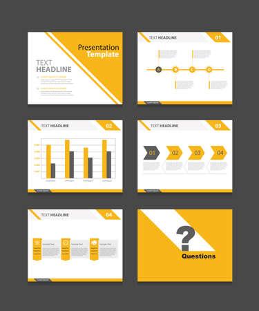 plantilla: presentación de negocios corporativos plantilla plantilla set.powerpoint diseño fondos Vectores