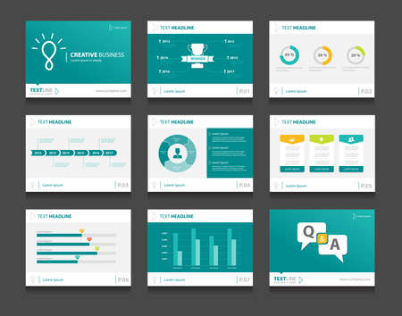 infographic business presentation template set.powerpoint template design backgrounds