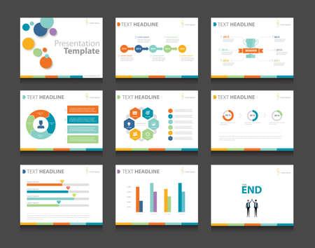 kleurrijke infographic zakelijke presentatie sjabloon set.powerpoint template design achtergronden