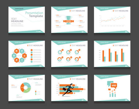 graphic presentation: infographic business presentation template set.powerpoint template design backgrounds