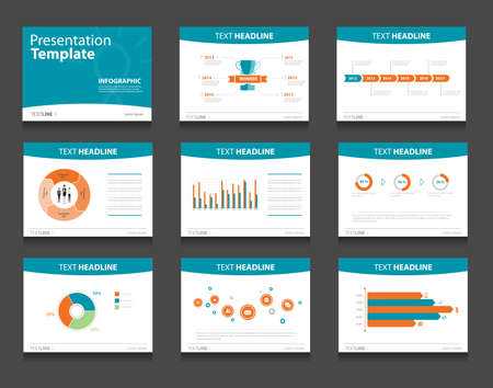 infographic powerpoint template design backgrounds . business presentation template set Imagens - 43683110