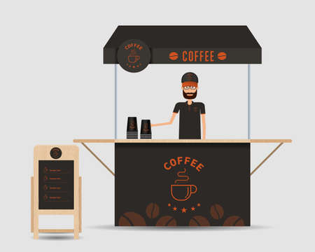 clothing shop: concept for business mini coffee shop branding design