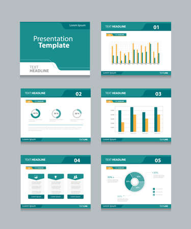 Vector template presentation slides background design.info graphs and charts . slides design.flat style.