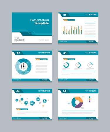 벡터 템플릿 발표는 그래프와 차트 design.info 배경을 슬라이드. 슬라이드 스타일을 design.flat. 일러스트