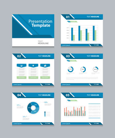 graphic presentation: Vector template presentation slides background design.info graphs and charts . slides design.flat style.