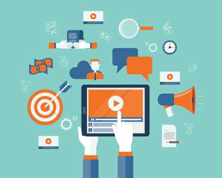 business video marketing content online concept