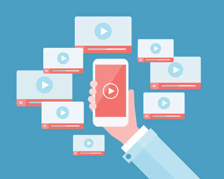 programing: business video marketing content online concept