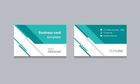 commercio: Business card template progettazione sfondi .vector eps 10 modificabile