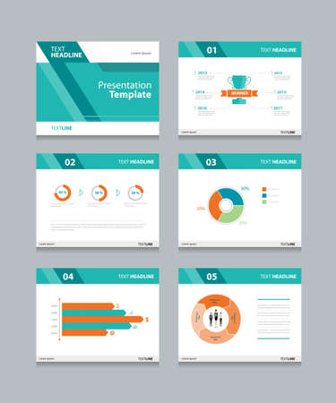 powerpoint: Vector template presentation slides background design.info graphs and charts . slides design.flat style.