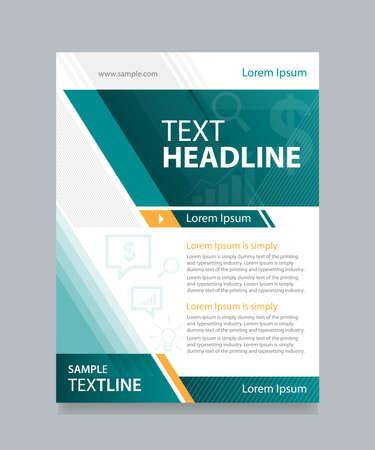 business brochure flyer design template Illustration