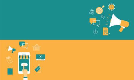 business marketing online banner