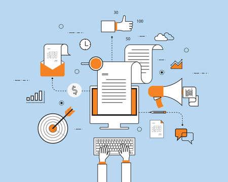 information technology: digital marketing business online concept
