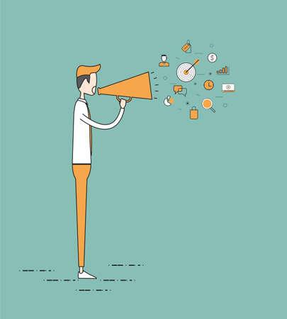 conflictos sociales: vector plana comunicaci�n concepto Vectores