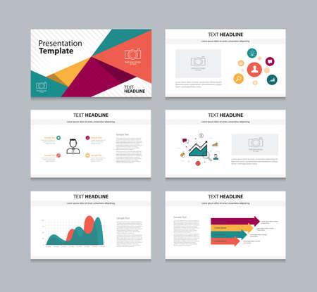 Vector template presentation slides background design Illustration