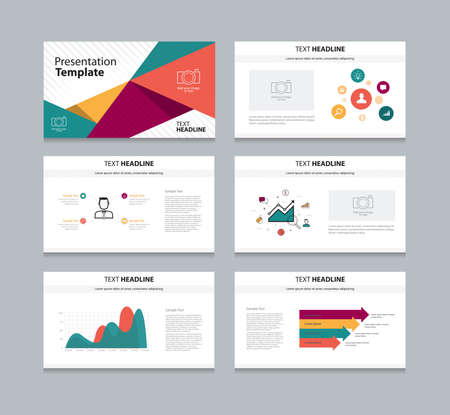 colorful slide: Vector template presentation slides background design Illustration
