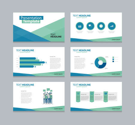 slide show: Vector template presentation slides background design Illustration
