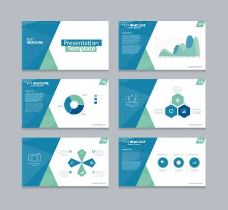 sjabloon: Vector sjabloon presentatie glijdt achtergrond ontwerp Stock Illustratie