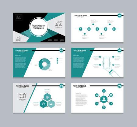 Vector sjabloon presentatie glijdt achtergrond ontwerp Stock Illustratie