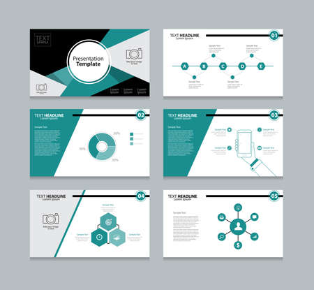color charts: Vector template presentation slides background design Illustration